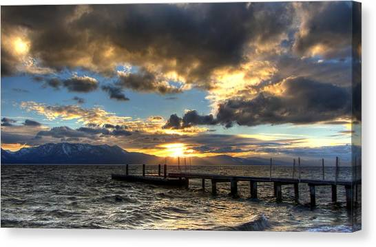 Goodnight Lake Tahoe Canvas Print