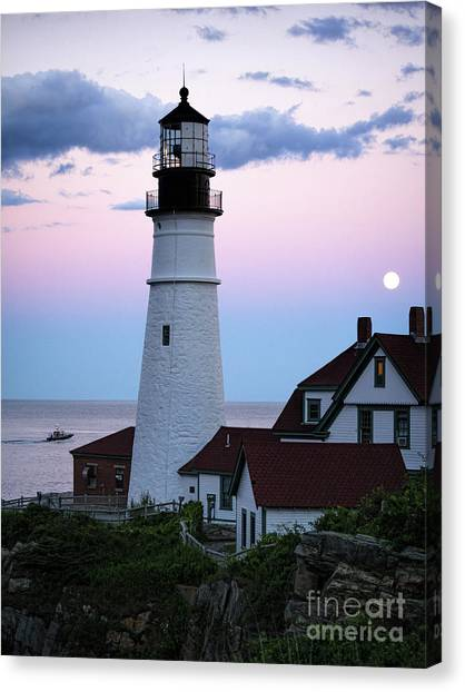Goodnight Moon, Goodnight Lighthouse  -98588 Canvas Print