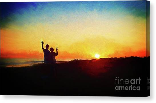 Goodnight Mr. Sun  Canvas Print
