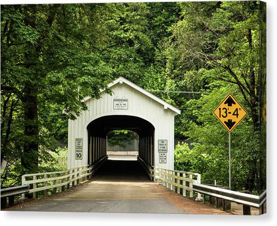 Goodpasture Covered Bridge Canvas Print