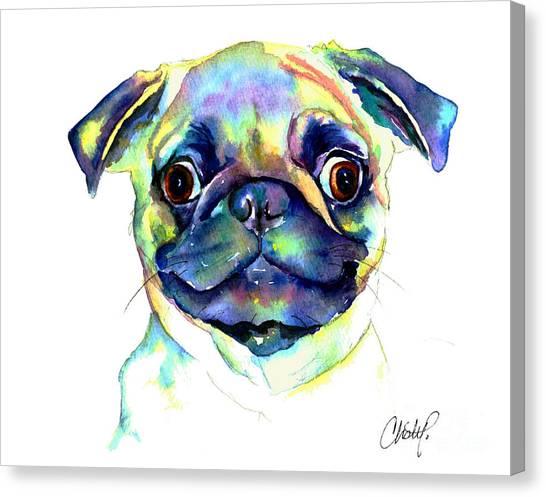 Google Eyed Pug Canvas Print