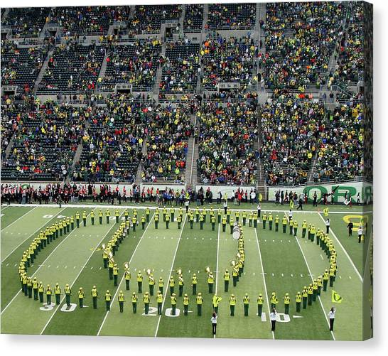 University Of Oregon Uo Canvas Print - Goooooo Ducks by Two Small Potatoes