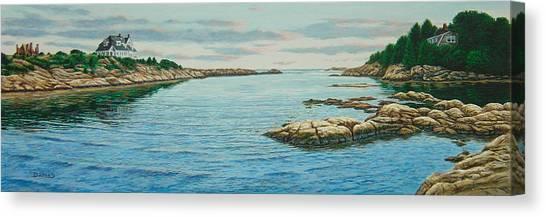 Goose Neck Cove Canvas Print by Bruce Dumas