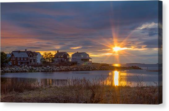 Goosefare Brook Sunrise - Saco Maine Canvas Print