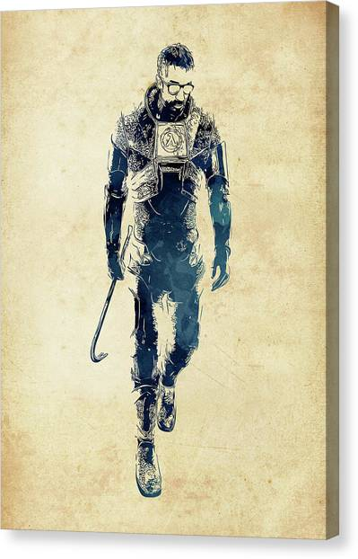 Gaming Consoles Canvas Print - Gordon Freeman by Dusan Naumovski