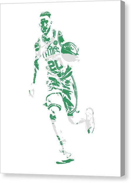 Boston Celtics Canvas Print - Gordon Hayward Boston Celtics Pixel Art 10 by Joe Hamilton