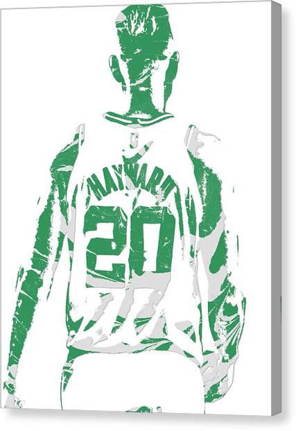 Boston Celtics Canvas Print - Gordon Hayward Boston Celtics Pixel Art T Shirt 5 by Joe Hamilton