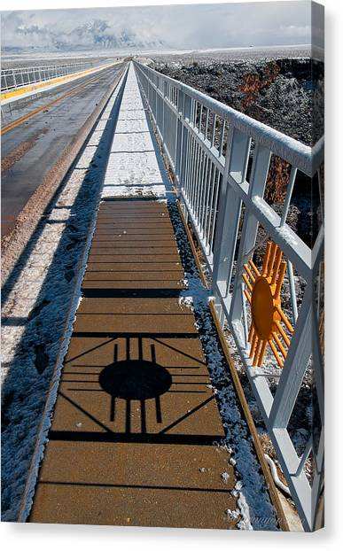 Gorge Bridge Zia Symbol Canvas Print