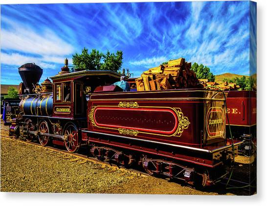 Steam Trains Canvas Print - Gorgeous Glenbrook Gingerbread Train by Garry Gay
