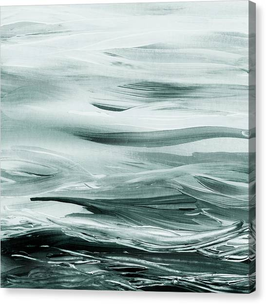 Irina Canvas Print - Gorgeous Grays Abstract Interior Decor Iv by Irina Sztukowski