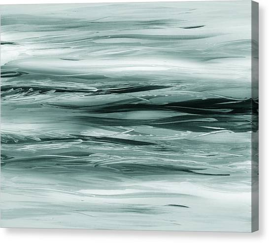 Irina Canvas Print - Gorgeous Grays Abstract Interior Decor Viii by Irina Sztukowski
