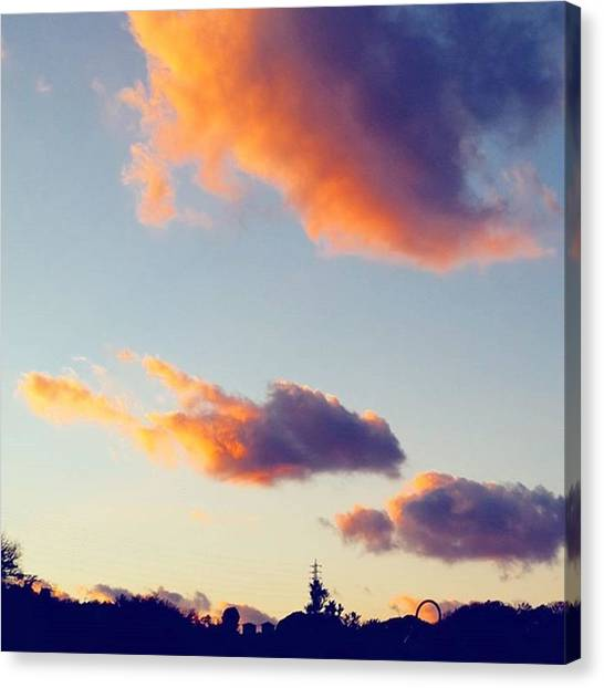 Pumpkins Canvas Print - Gorgeous Sunset On New Years by Lady Pumpkin