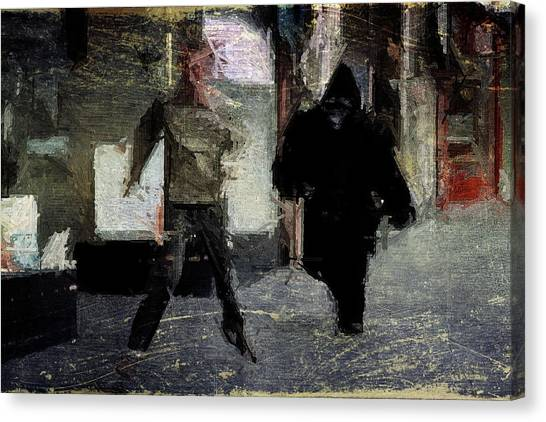 Fun Run Canvas Print - Gorilla Chase by Andrea Barbieri