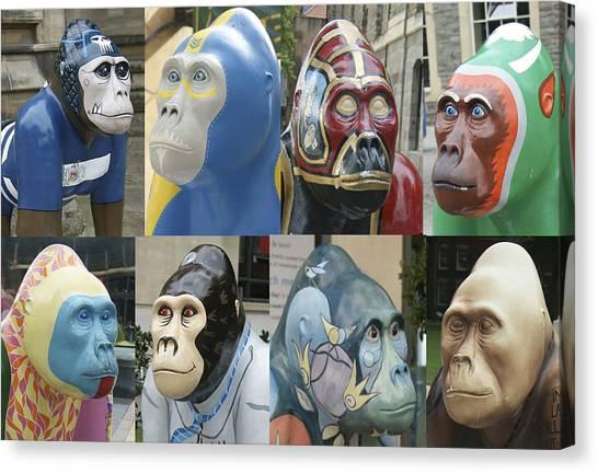 Gorillas In The Street Canvas Print