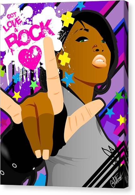 Got Love 4 Rock Canvas Print by Devin Green