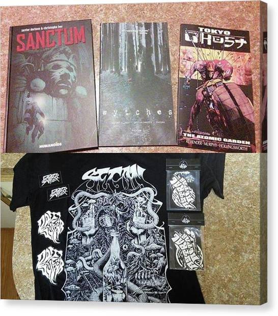 Cyberpunk Canvas Print - Got Some Cool Stuff For My Birthday by XPUNKWOLFMANX Jeff Padget