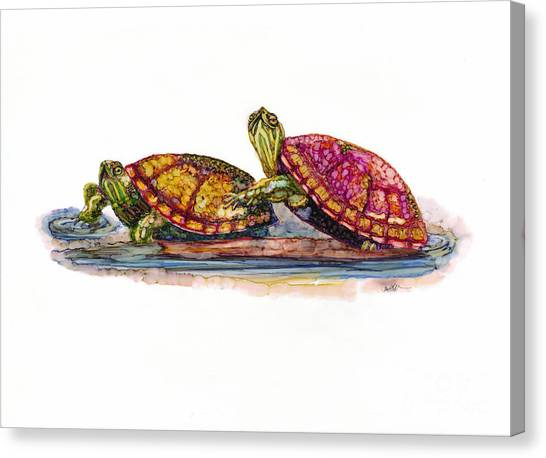 Spring Turtles Canvas Print