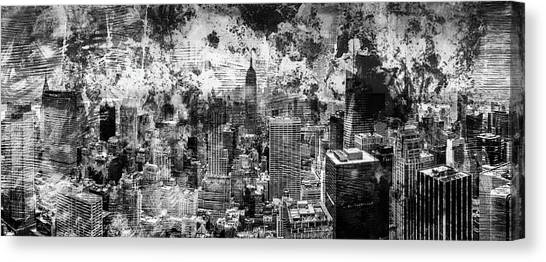 Abstract Digital Art Canvas Print - Gotham Castles by Az Jackson