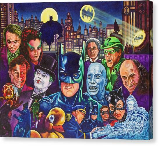 Jim Carrey Canvas Print - Gotham City by Michael Frank