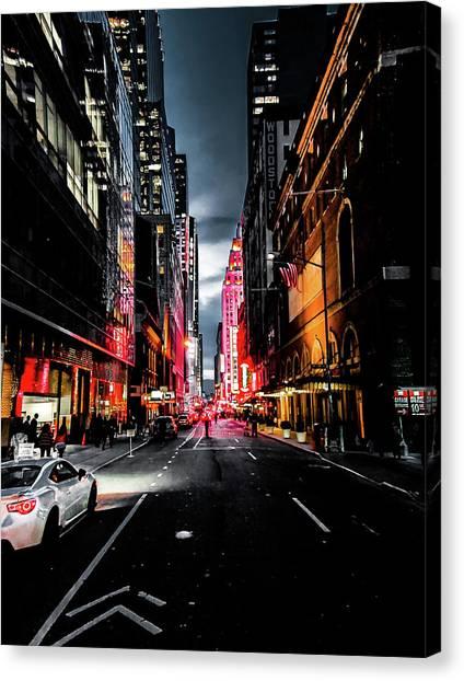 Neon Canvas Print - Gotham  by Nicklas Gustafsson