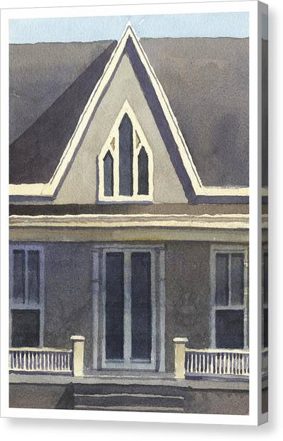 Gothic American, New Harmony, In Canvas Print