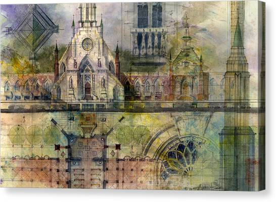 Church Canvas Print - Gothic by Andrew King