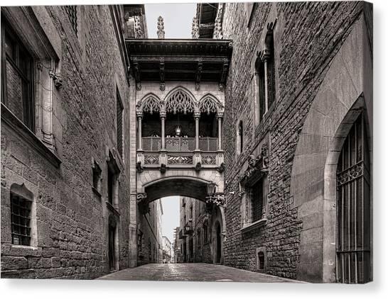 Gothic Barcelona Canvas Print