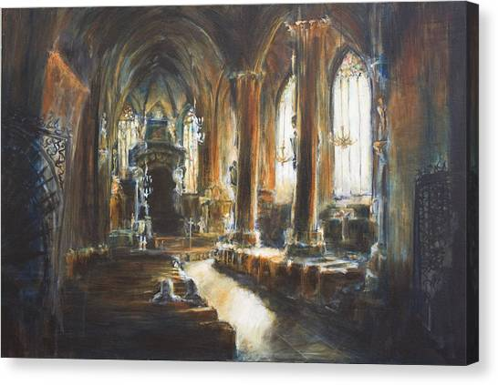 Gothic Church Canvas Print by Nik Helbig