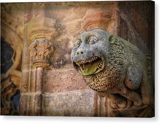 Mythological Creatures Canvas Print - Gothic Gargoyle In Scotland by Carol Japp