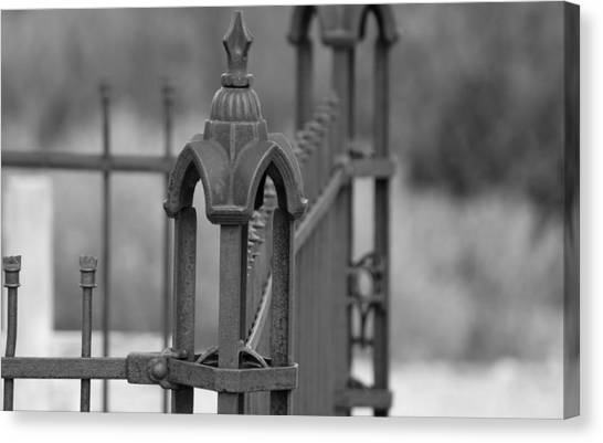 Gothic Ornamental Fence In Boothill Canvas Print