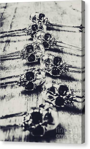 Anatomical Canvas Print - Gothic Skull Pins by Jorgo Photography - Wall Art Gallery