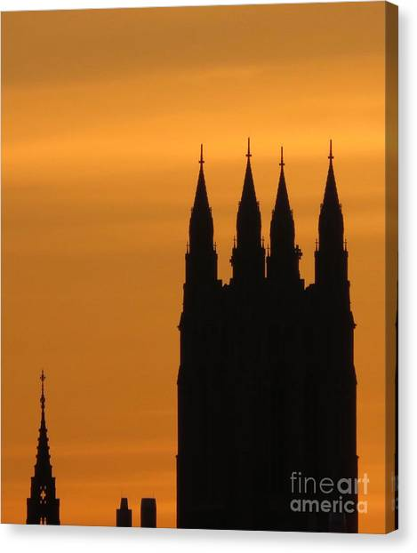 Boston College Canvas Print - Gothic Spires At Sunset by Beth Myer Photography