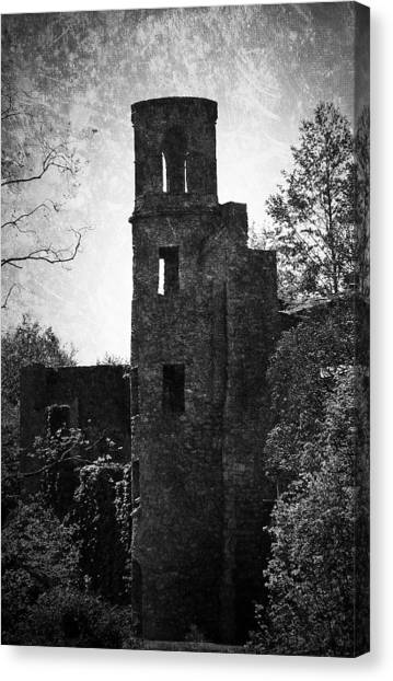 Gothic Tower At Blarney Castle Ireland Canvas Print