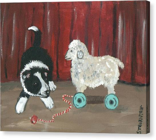 Gots Me A Sheepie Canvas Print by Sue Ann Thornton