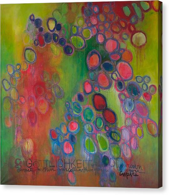 Canvas Print featuring the painting Gottlichkeit by Laurie Maves ART