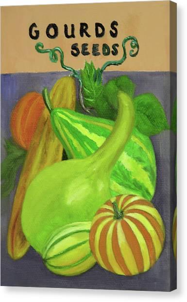 Gourd Purple Canvas Print