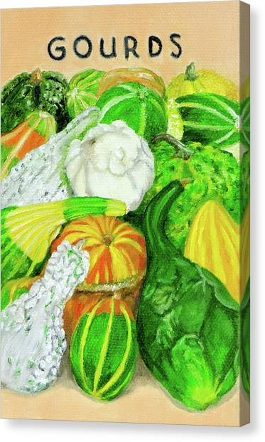 Gourd Seed Packet Canvas Print