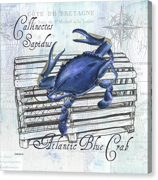 Crabs Canvas Print - Gourmet Shellfish 1 by Debbie DeWitt