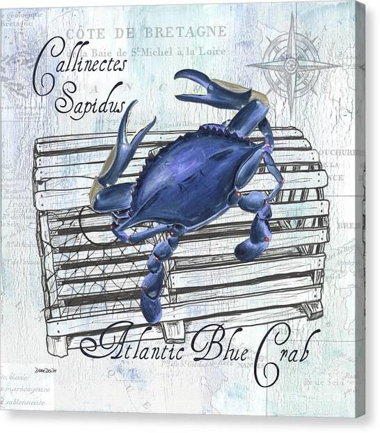 Bistros Canvas Print - Gourmet Shellfish 1 by Debbie DeWitt