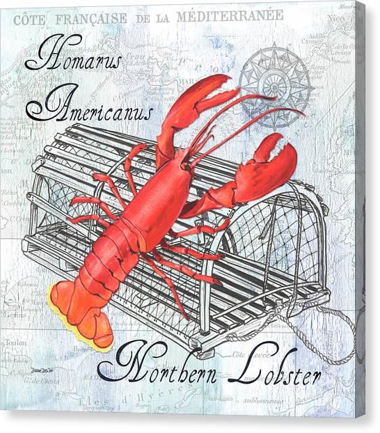 Lobster Canvas Print - Gourmet Shellfish 2 by Debbie DeWitt