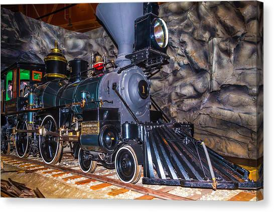 Stanford University Canvas Print - Gov Stanford Train by Garry Gay