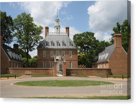 Governers Palace - Williamsburg Va Canvas Print