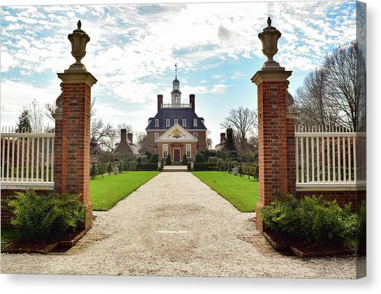 Governor's Palace In Williamsburg, Virginia Canvas Print