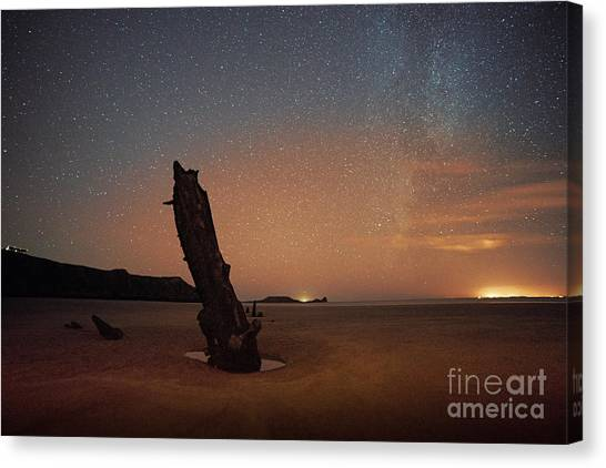 Gower Helvetia At Night  Canvas Print