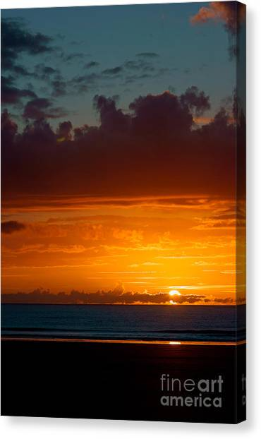Gower Sundown Canvas Print