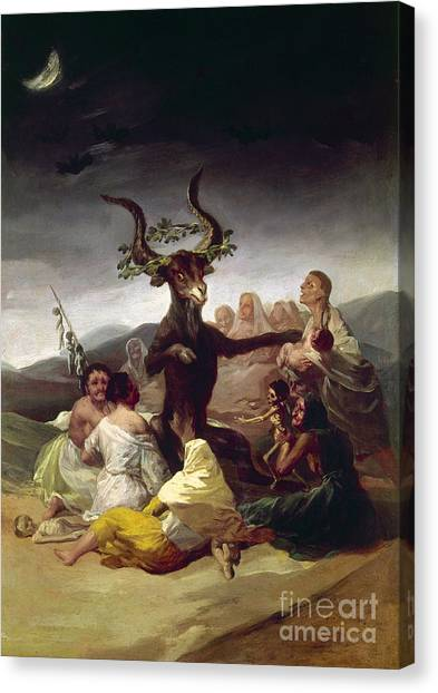 Artcom Canvas Print - Goya: Witches Sabbath by Granger