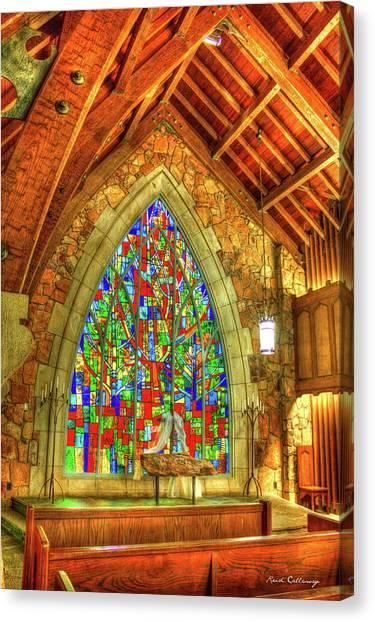 Dr. J Canvas Print - Grace Abounds Ida Cason Callaway Memorial Chapel Art by Reid Callaway
