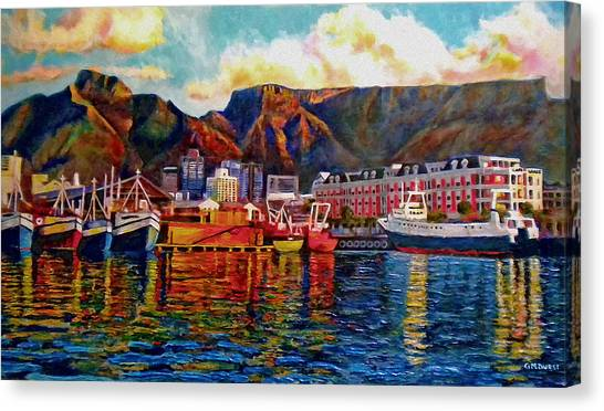 Table Mountain Canvas Print - Grace At The Table 2.0 by Dr Michael Durst