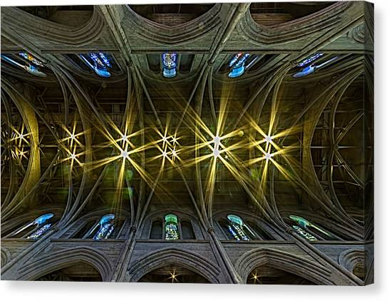 Vault Canvas Print - Grace Cathedral Starburst by Bill Gallagher