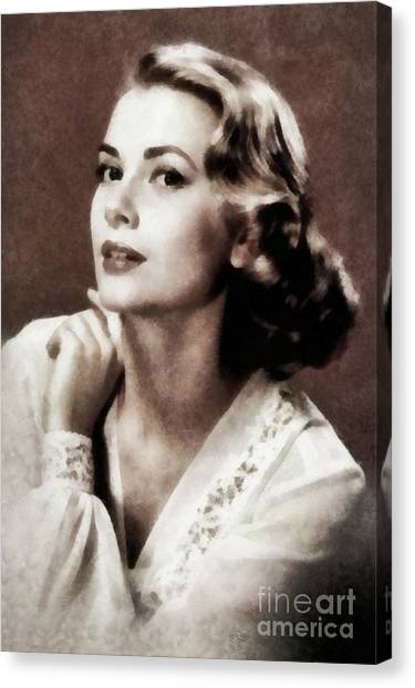 Grace Kelly Canvas Print - Grace Kelly, Actress, By Js by John Springfield